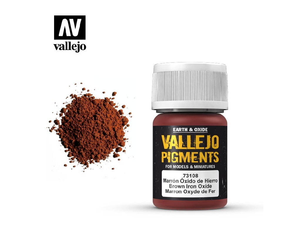 Vallejo - Pigmenty 73108 Brown Iron Oxide 35 ml.