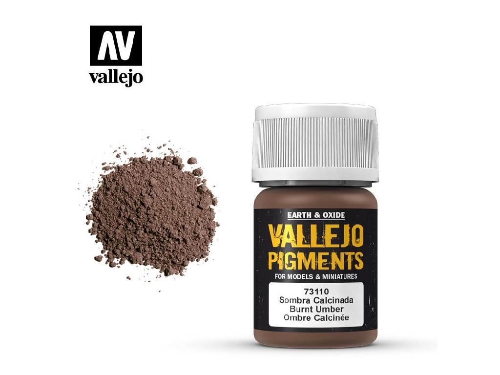 Vallejo - Pigmenty 73110 Burnt Umber 35 ml.