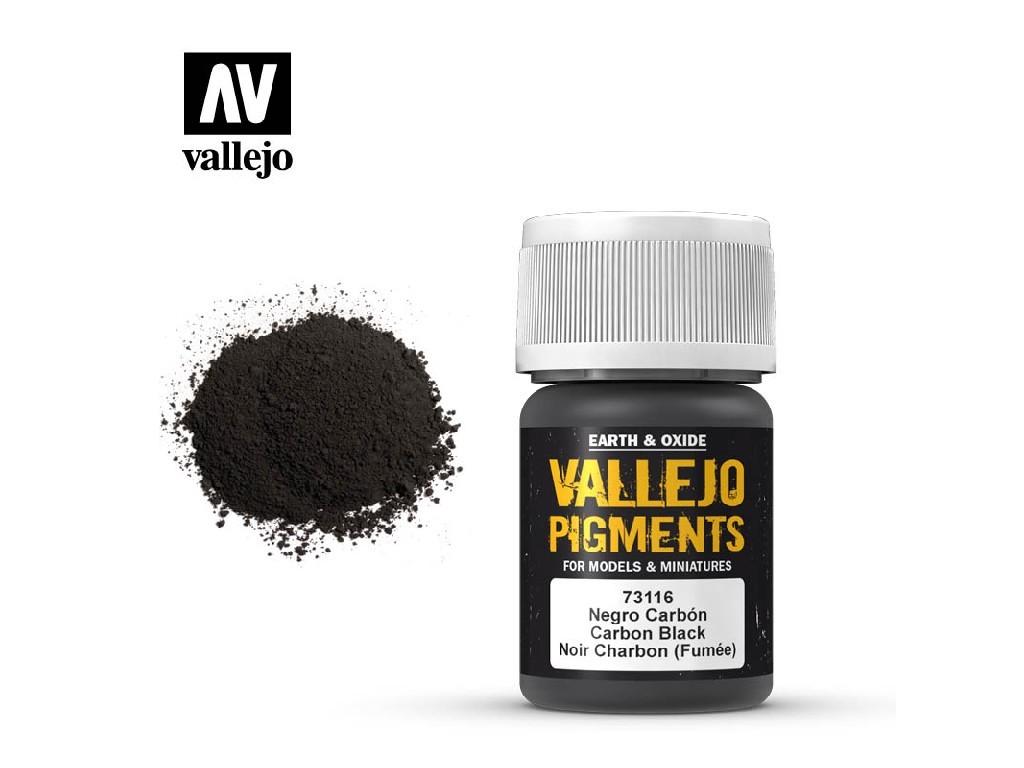 Vallejo - Pigmenty 73116 Carbon Black (Smoke Black) 35 ml.