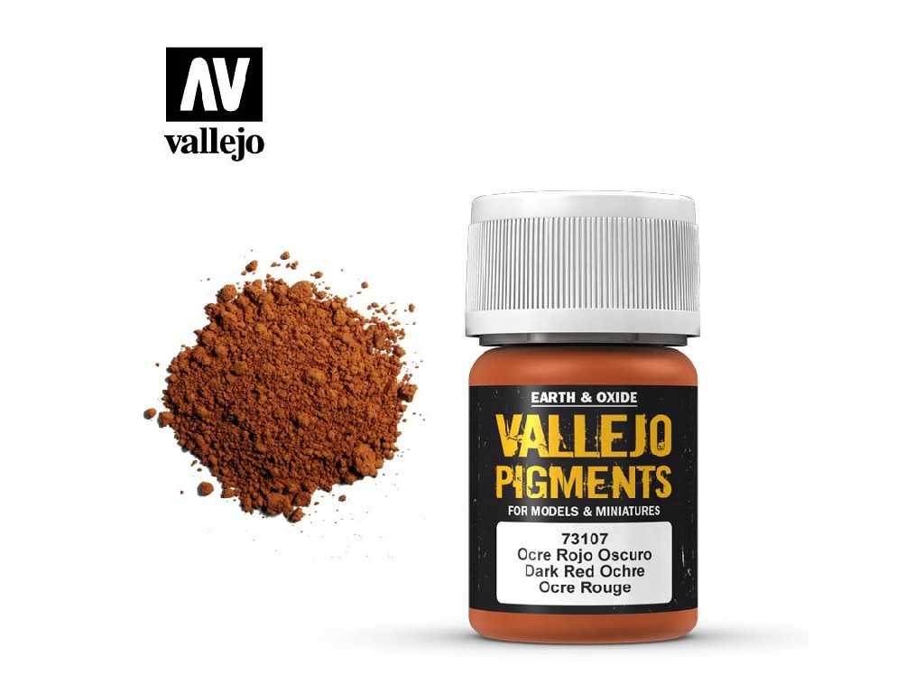 Vallejo - Pigmenty 73107 Dark Red Ochre 35 ml.