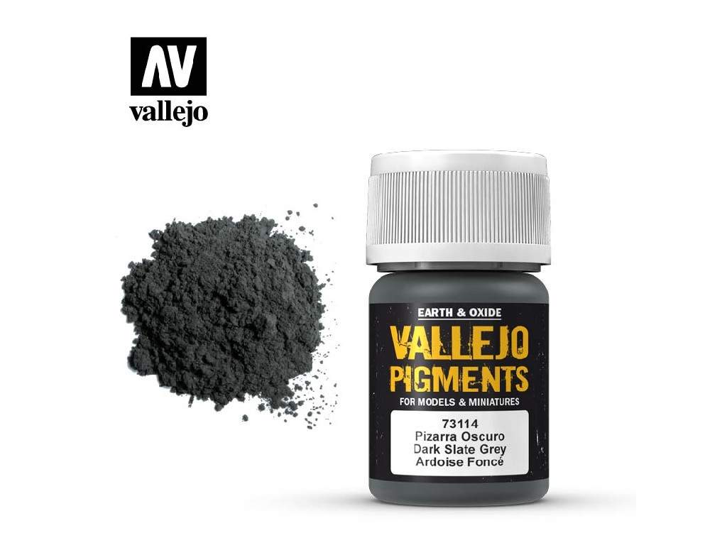 Vallejo - Pigmenty 73114 Dark Slate Grey 35 ml.