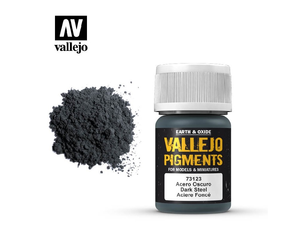 Vallejo - Pigmenty 73123 Dark Steel 35 ml.