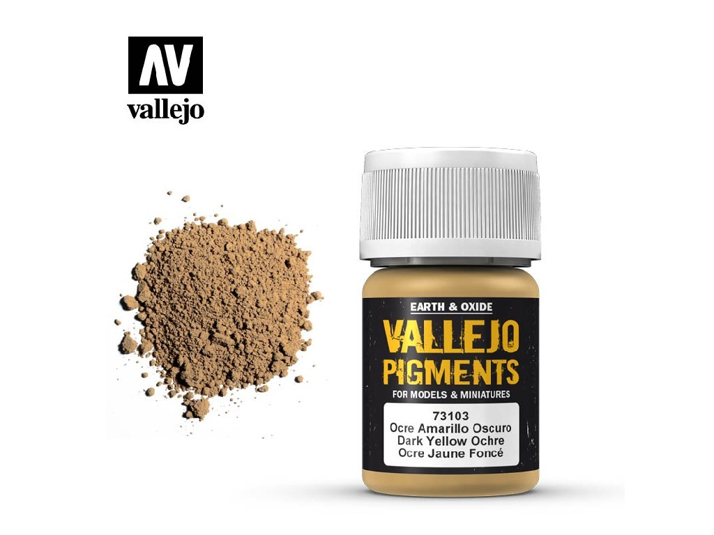 Vallejo - Pigmenty 73103 Dark Yellow Ochre 35 ml.