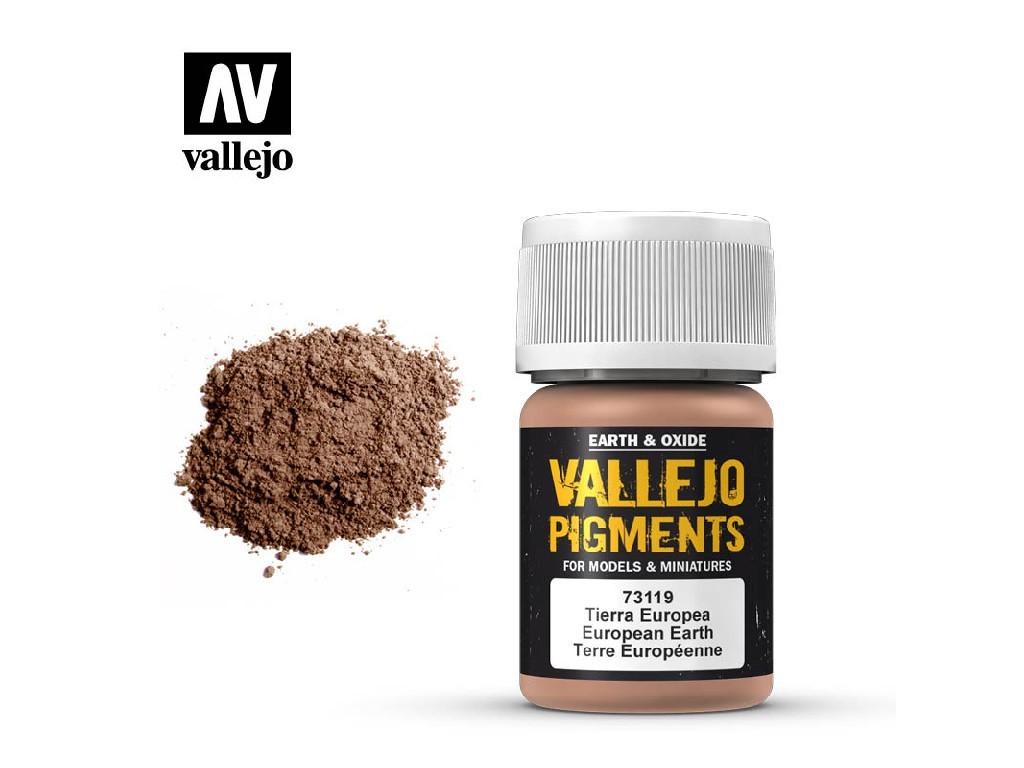 Vallejo - Pigmenty 73119 European Earth 35 ml.