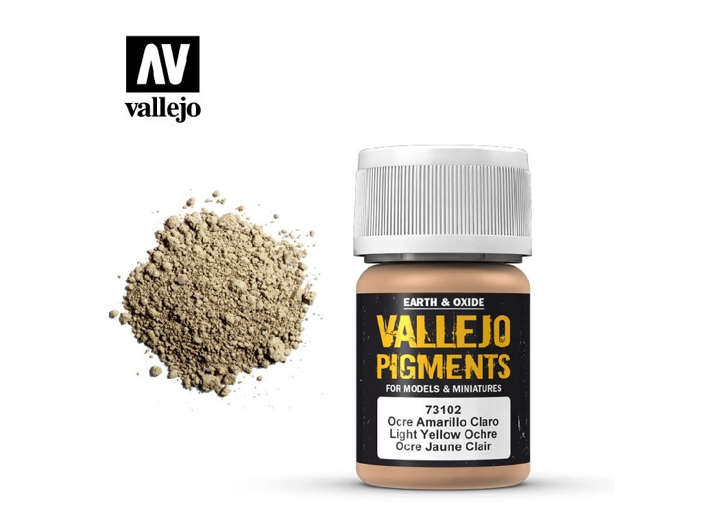 Vallejo - Pigmenty 73102 Light Yellow Ochre 35 ml.