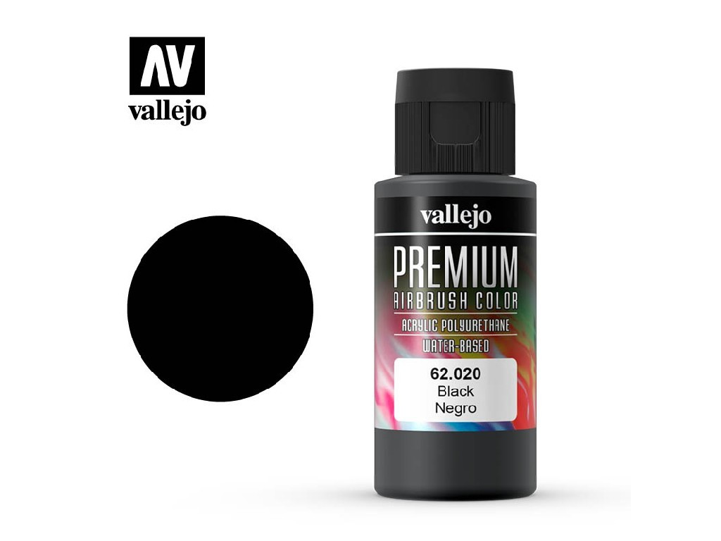 Vallejo - Premium Color 62020 Black 60 ml.