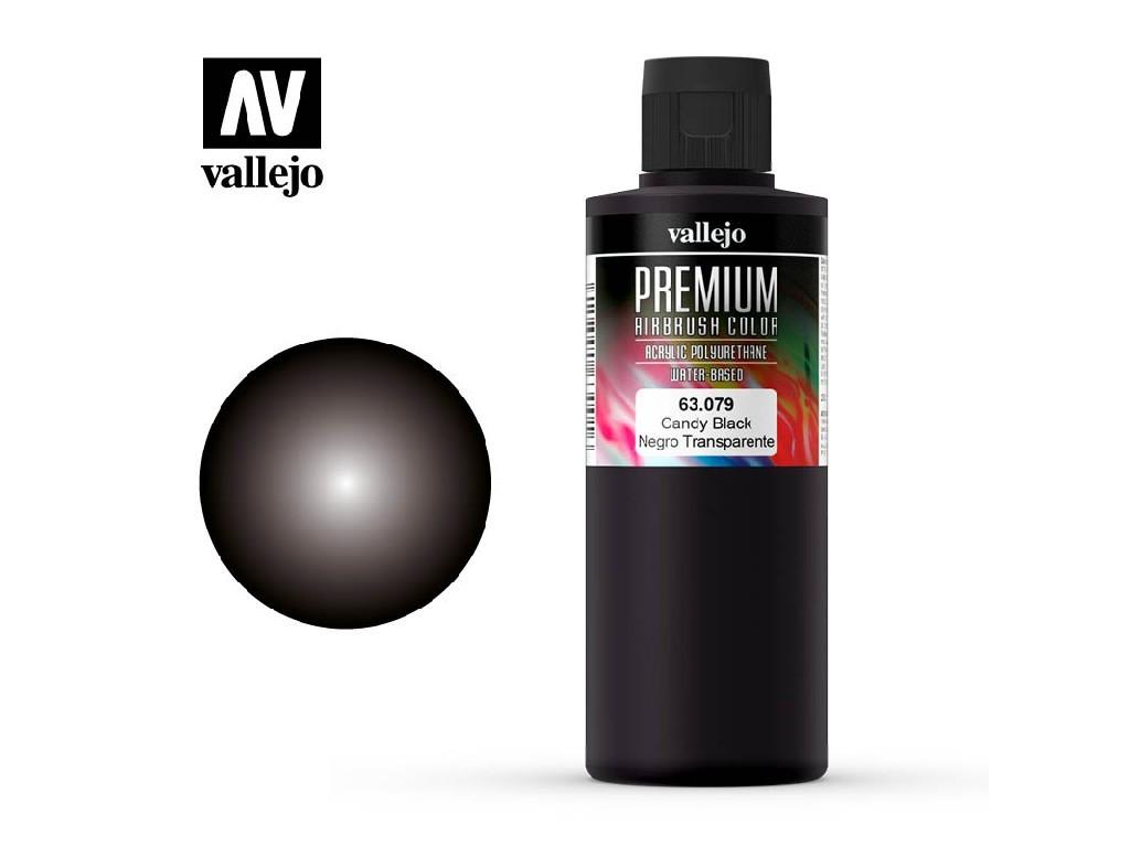 Vallejo Premium Color - Candy Black 63079 200 ml.