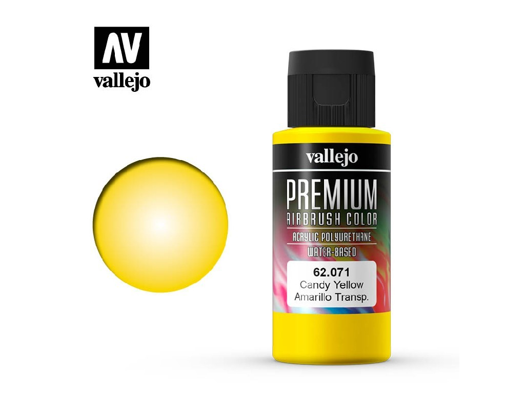 Vallejo - Premium Color 62071 Candy Yellow 60 ml.