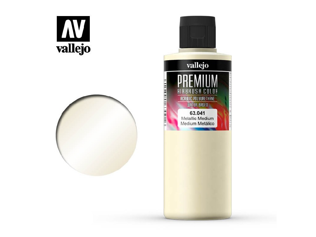 Vallejo Premium Color - Metallic Medium 63041 200 ml.