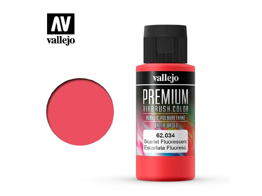 Vallejo - Premium Color 62034 Scarlet Fluo 60 ml.