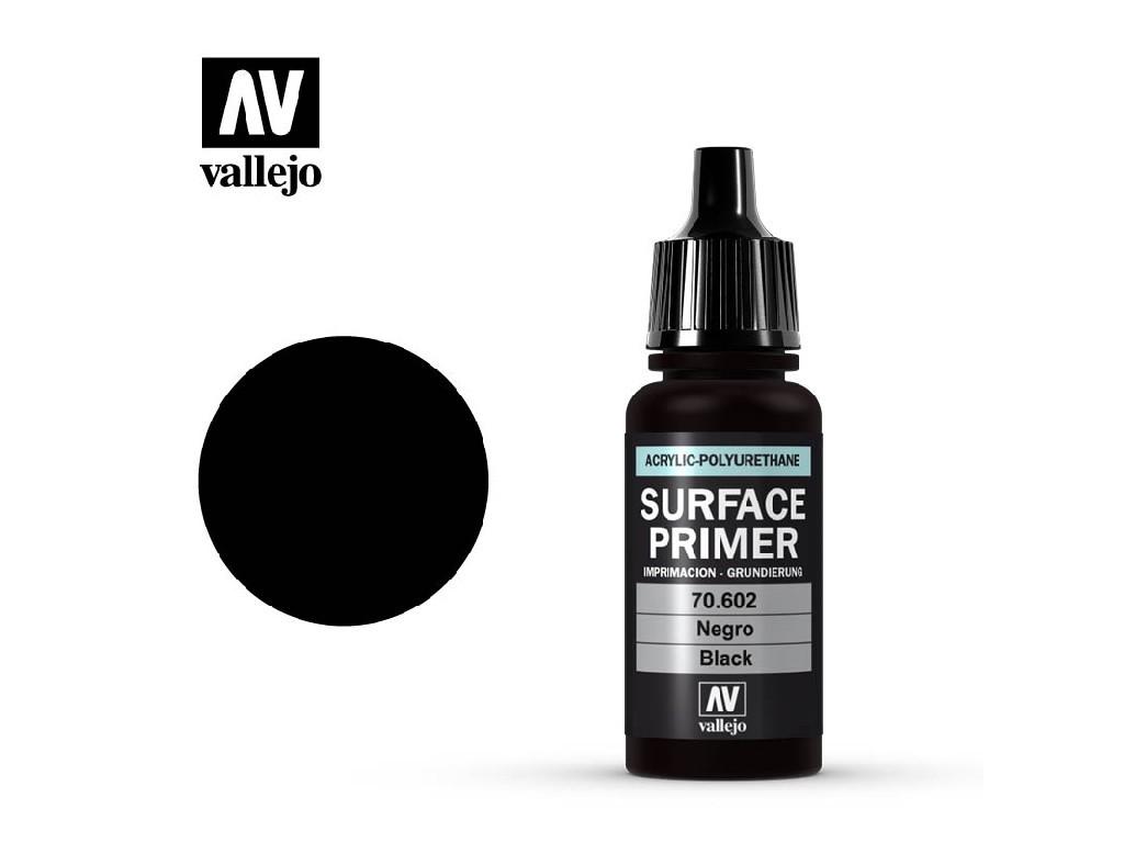 Vallejo Surface Primer - Black 70602 17 ml.