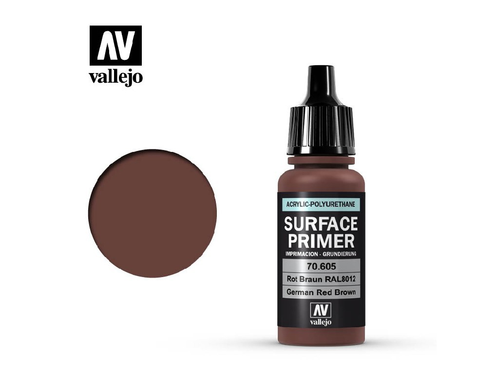 Vallejo - Surface Primer 70605 Ger. Red Brown 17 ml.