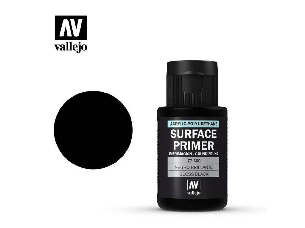 Vallejo - Surface Primer 77660 Gloss Black Primer 32ml.