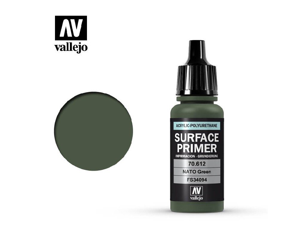 Vallejo - Surface Primer 70612 NATO Green 17 ml.