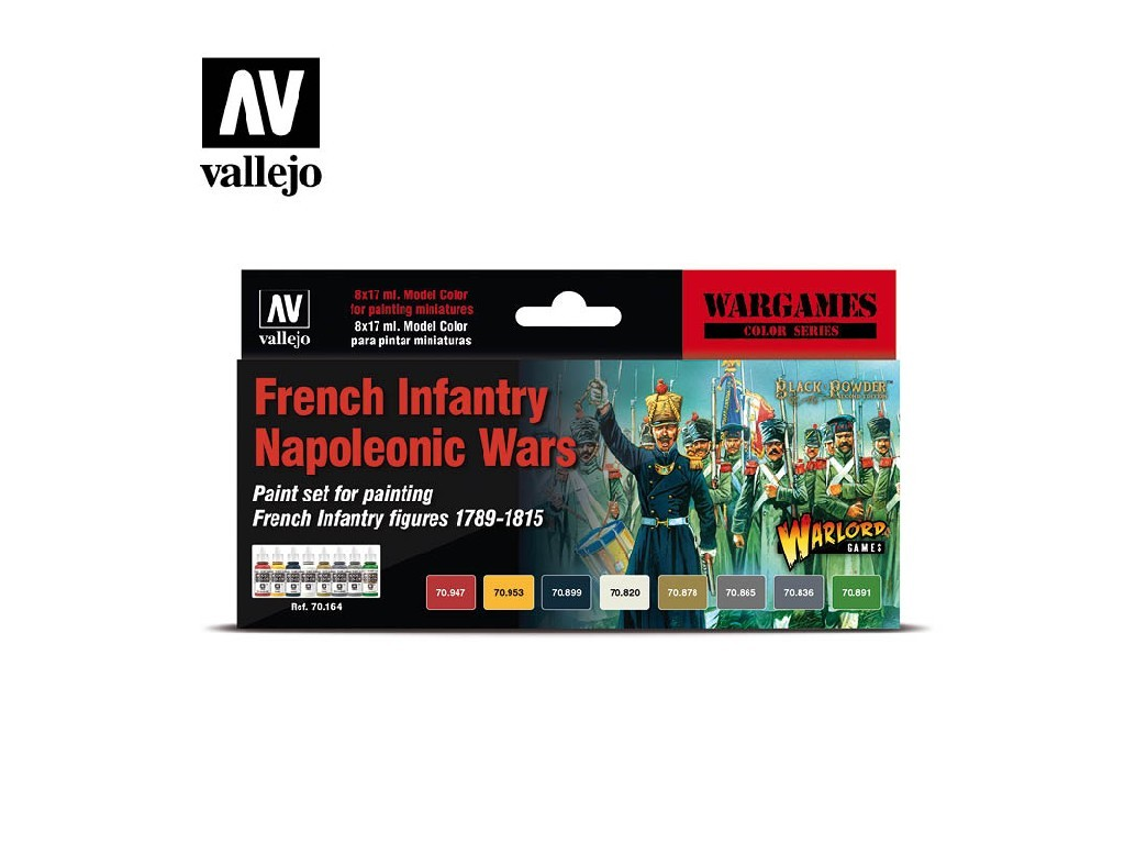 Vallejo Model Color Set - 70164 French Infantry Napoleonic Wars 8x17 ml.