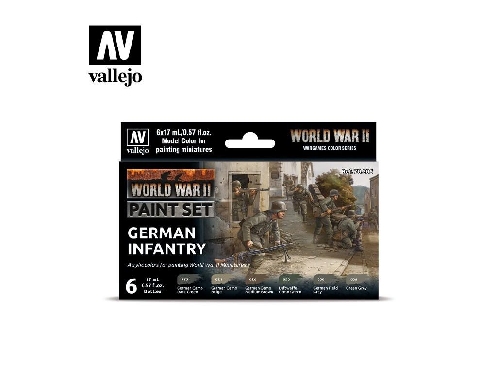 Vallejo Model Color Set - 70206 WWII German Infantry 6x17 ml.