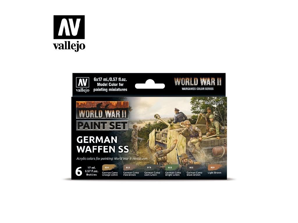 Vallejo Model Color Set - 70207 WWII German Waffen SS 6x17 ml.