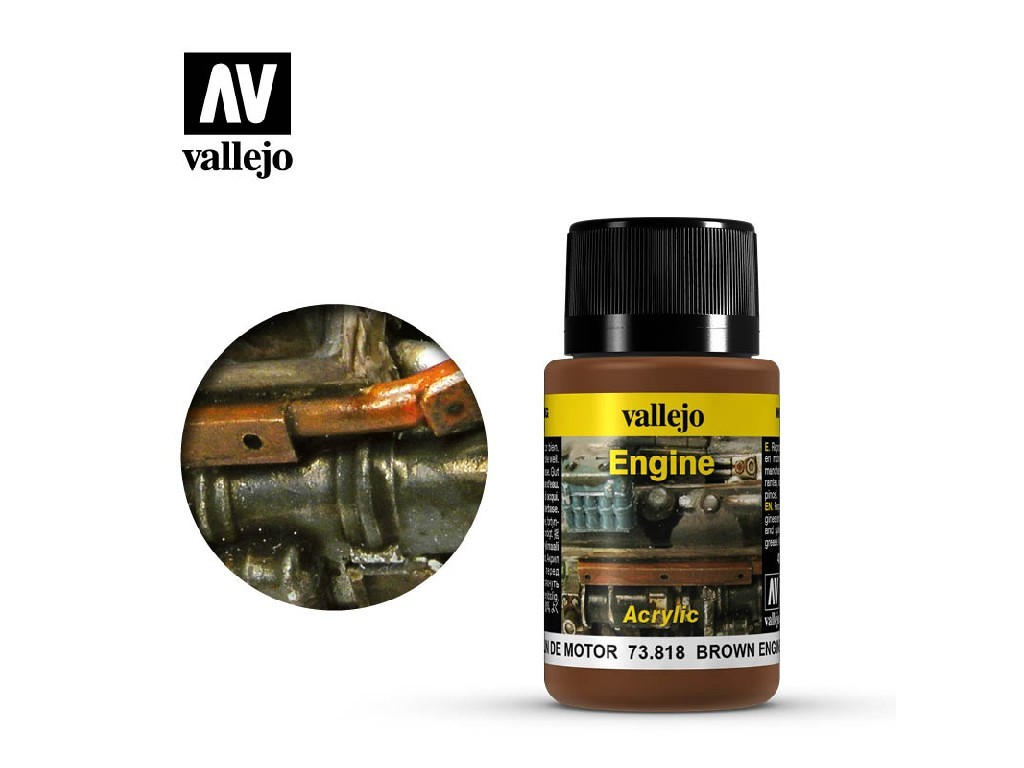 Vallejo Weathering Effects - Brown Engine Soot 73818 40 ml.