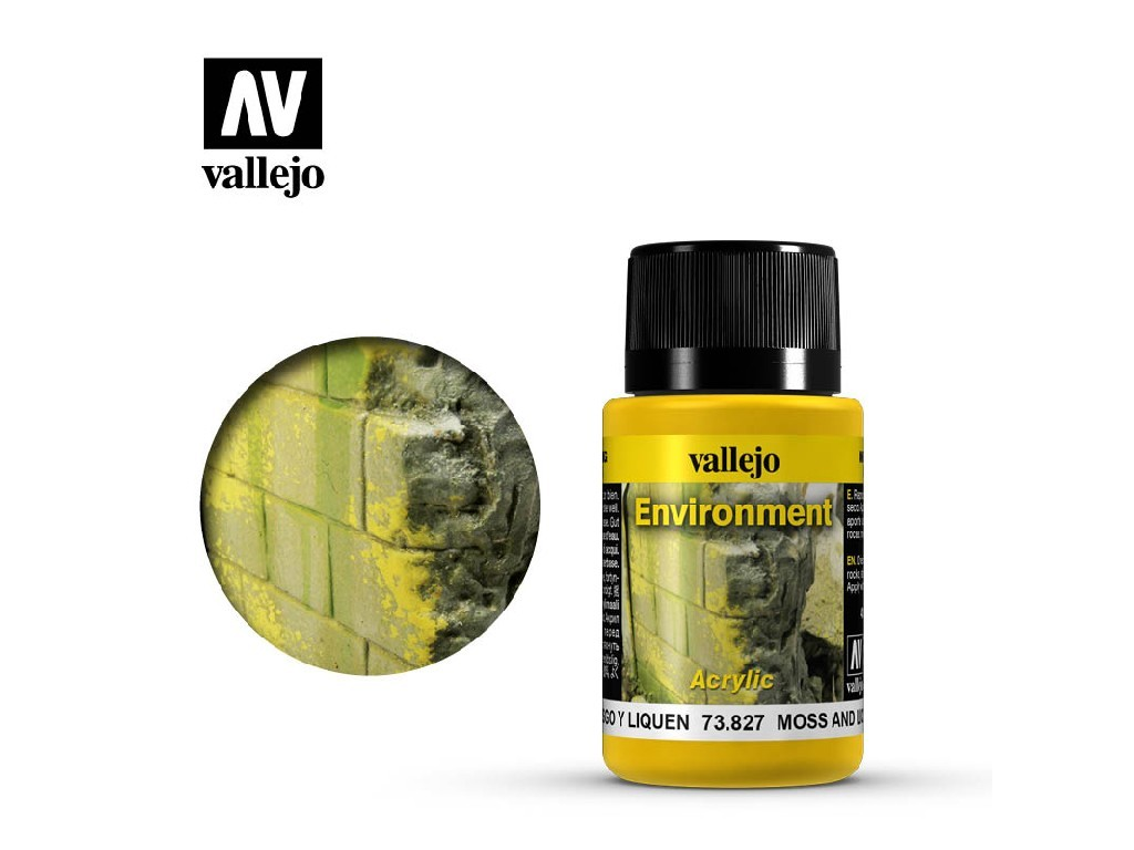 Vallejo Weathering Effects - Moss and Lichen Effect 73827 40 ml.