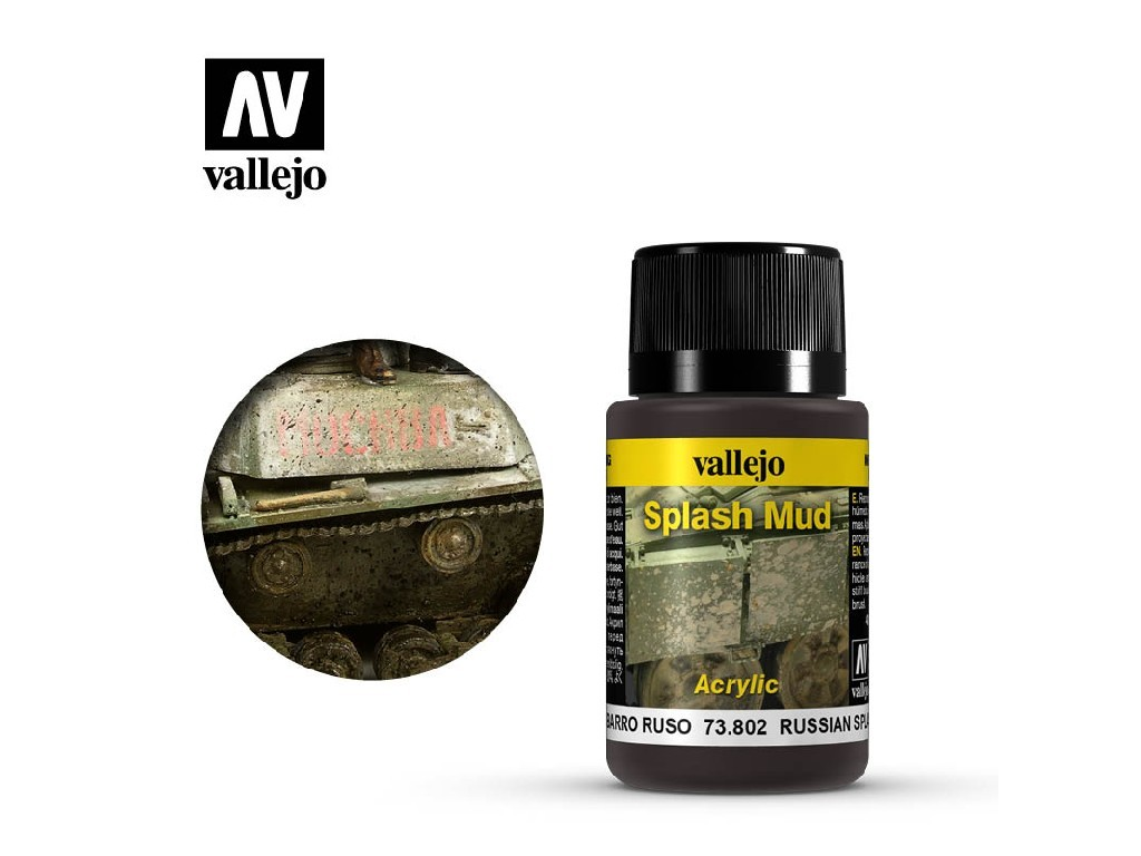 Vallejo Weathering Effects - Russian Splash Mud 73802 40 ml.