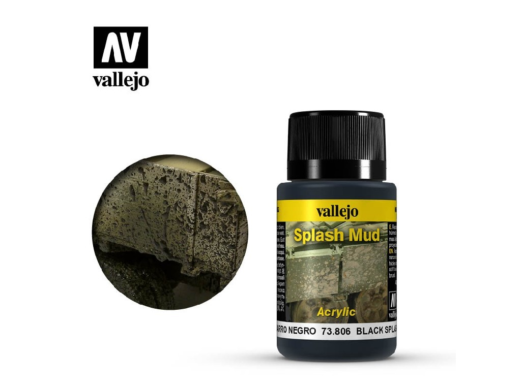 Vallejo Weathering Effects - Black Splash Mud 73806 40 ml.