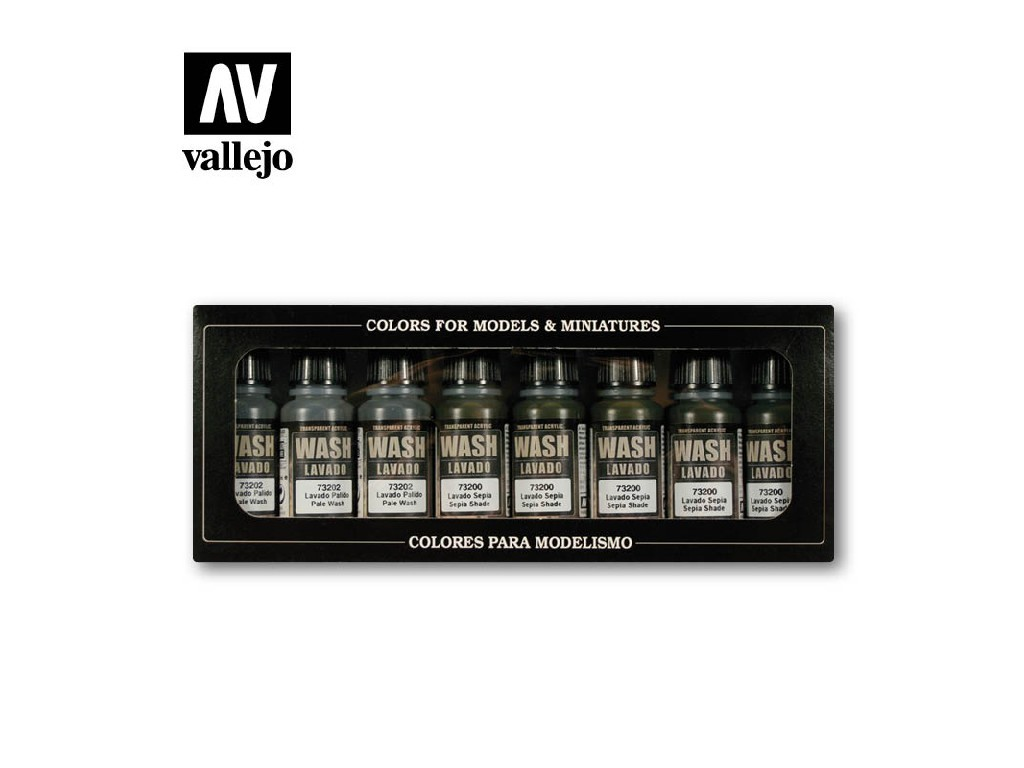 Vallejo Game Color Set - Washes 8 x 17 ml. 73998