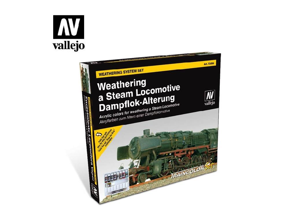 Vallejo Model Color Set - Train Weathering 9 x 17 ml. 73099