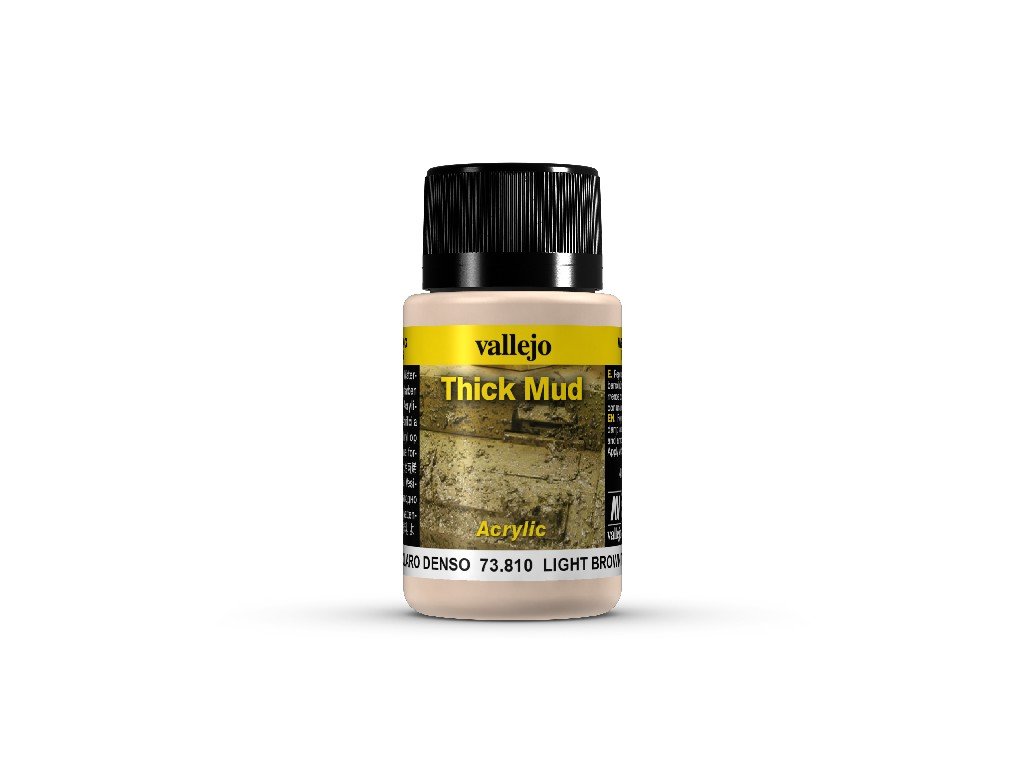 Vallejo Weathering Effects - Light Brown Thick Mud 73810 40 ml.