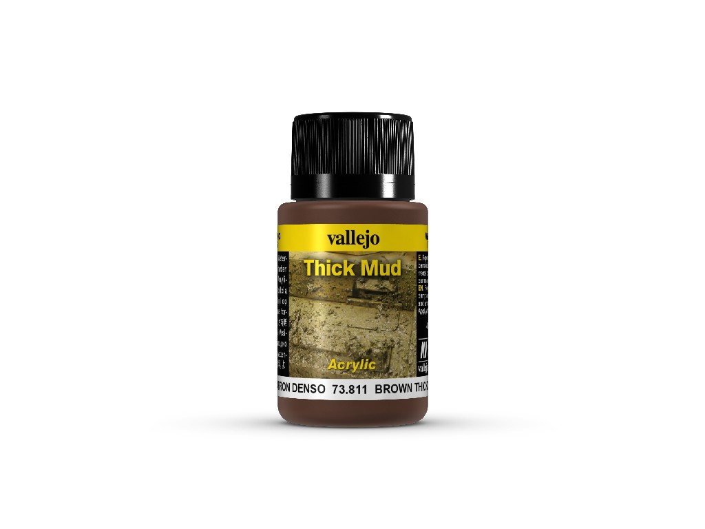 Vallejo Weathering Effects - Brown Thick Mud 73811 40 ml.