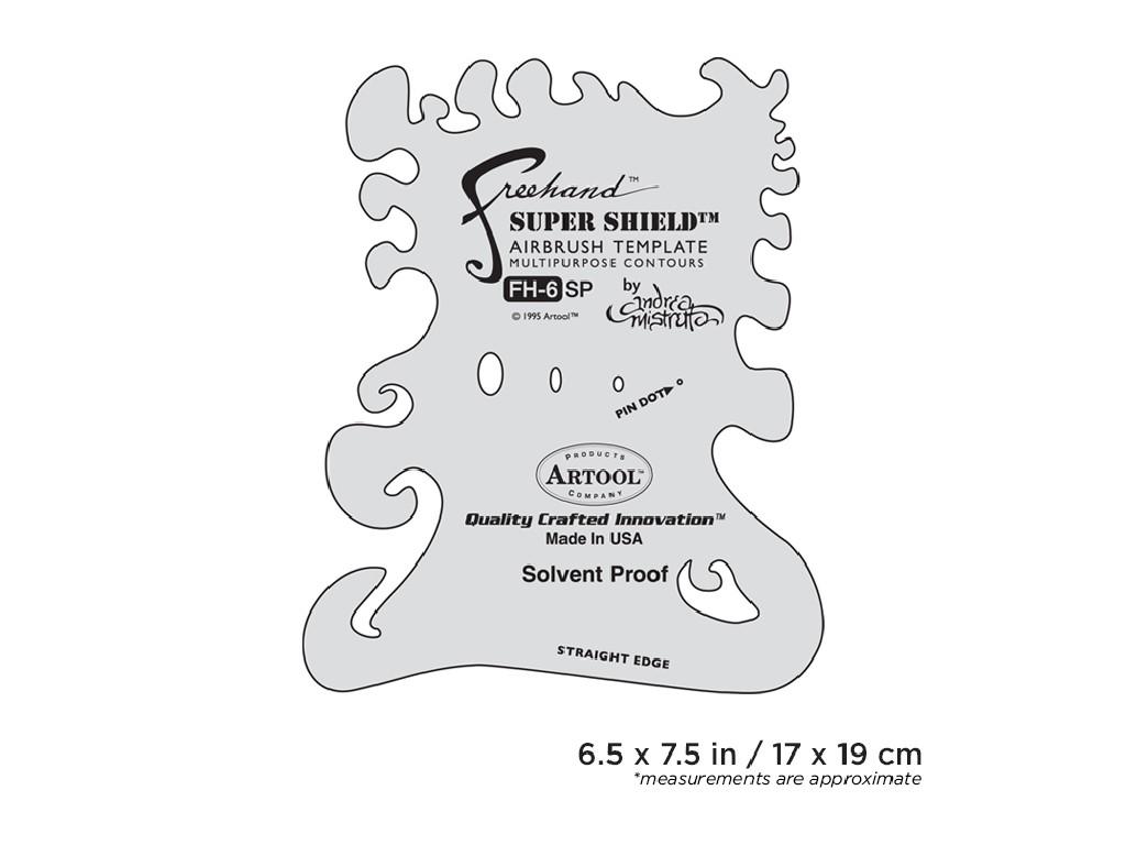 Artool FH 6 SP  Freehand Airbrush Template - Andrea Mistretta Super