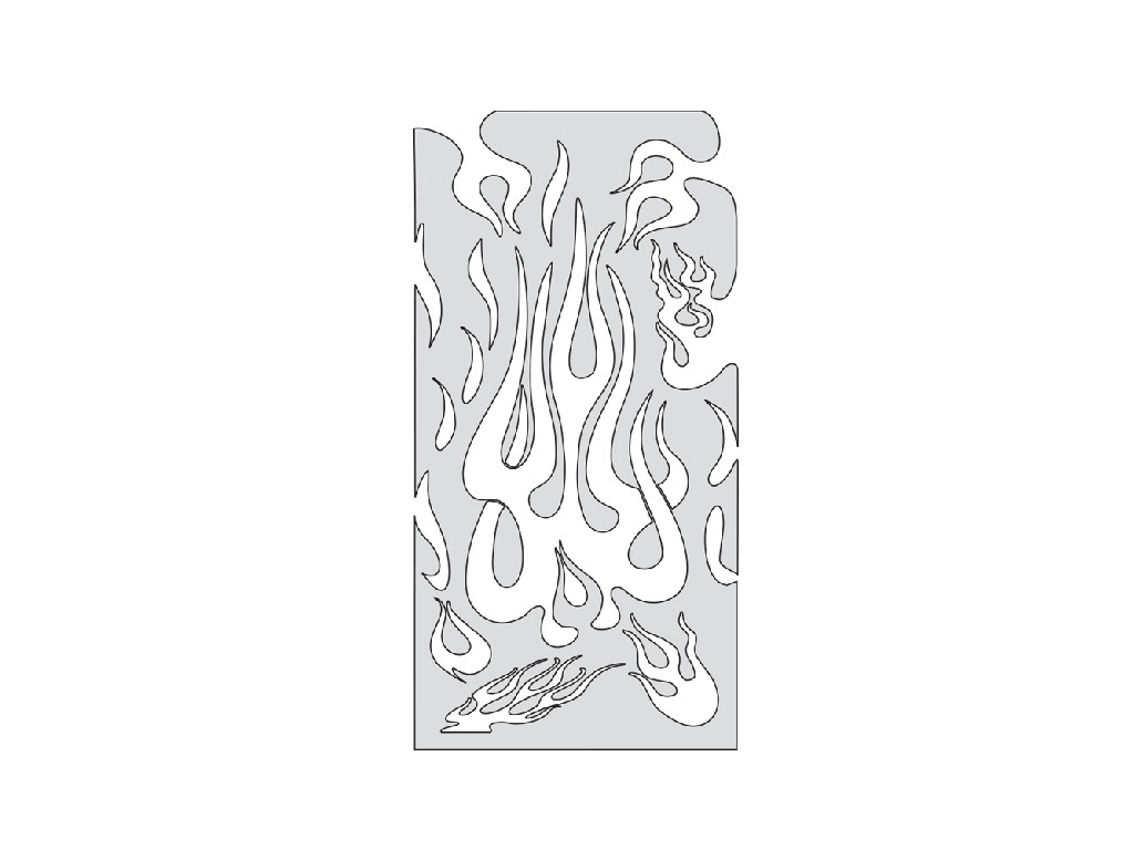 Artool FH FM 1 ­ Freehand Airbrush Template - Flame Master Medium