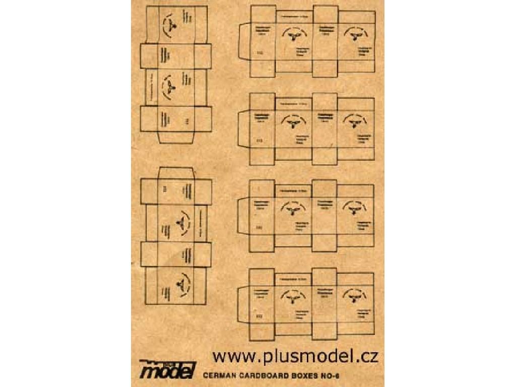 1/35 German Cardboard Boxes