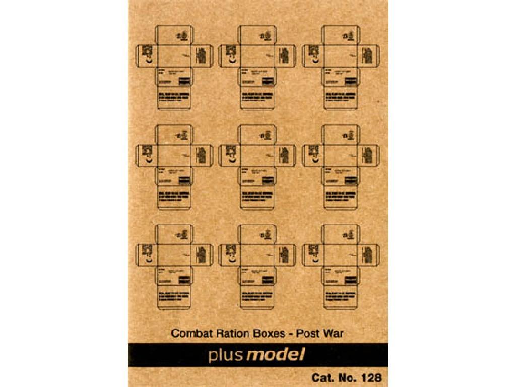 Plusmodel - 128 - U.S. Cardboard Boxes- postwar period 1:35