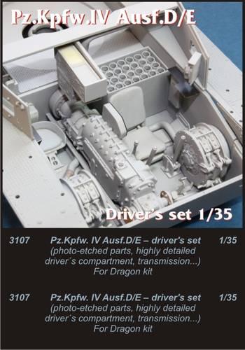 1/35 Pz.Kpfw.IV Ausf..D/E drivers set for Drag.