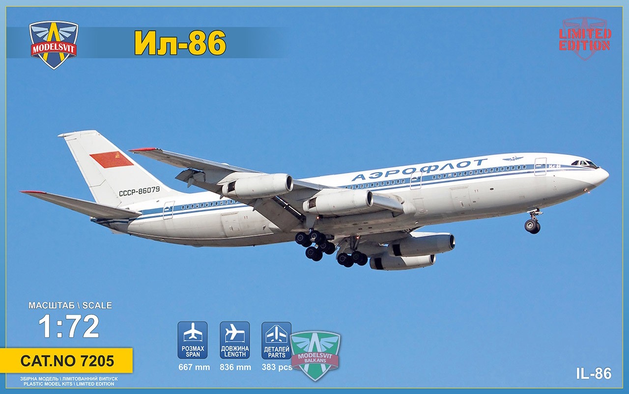 1/72 IL-86 wide-body airliner