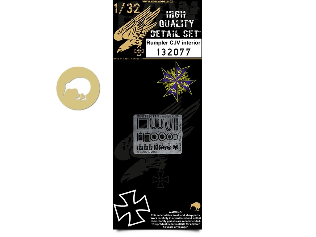 1/32 Rumpler C.IV - Interior - Photo-etched Sets - Wingnut Wings