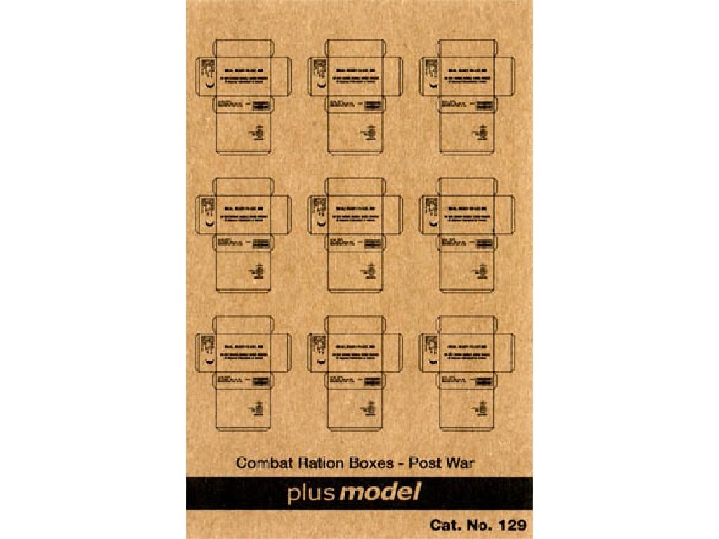 1/35 U.S. Cardboard Boxes- postwar period
