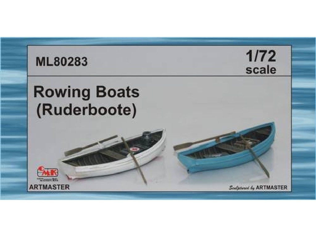 1/72 Rowing boats 2 pcs