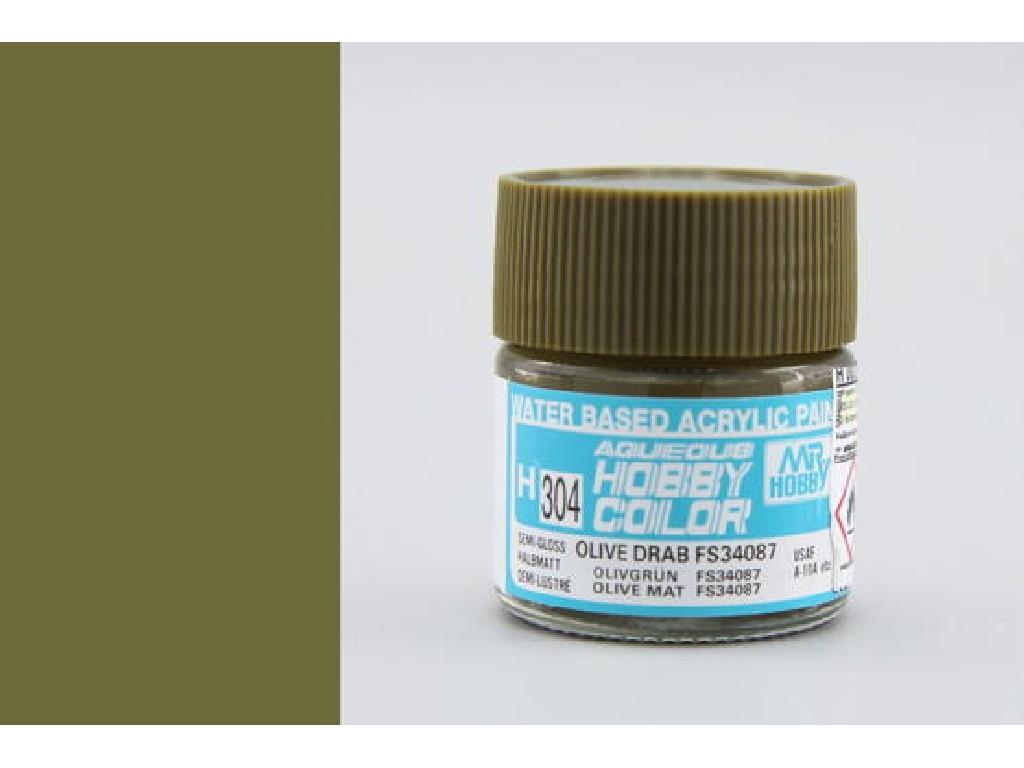 Mr. Hobby - Aqueous - H304 - FS34087 Olive Drab - Olivová tmavá 10ml