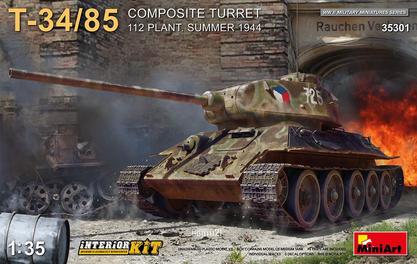1/35 T-34-85 Composite Turret. 112 Plant. Summer 1944 Interior Kit - Miniart