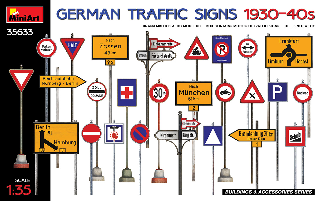 1/35 German Traffic Signs 1930-40's - Miniart