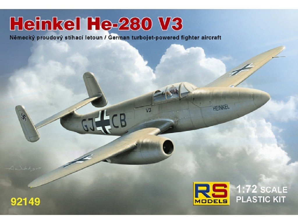 1/72 Heinkel He-280 with HeS engine