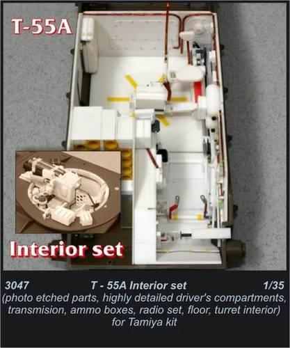 1/35 T-55A - interior set for TAM