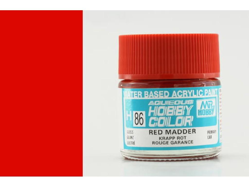 Mr. Hobby - Aqueous - H086 - Red Madder - Ostrá červená 10ml