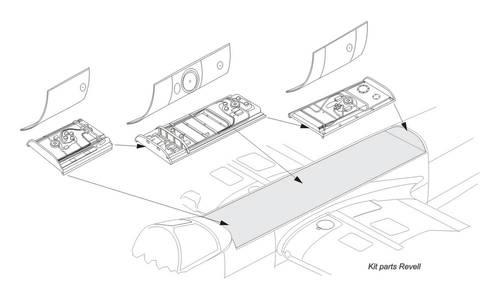 1/32 He 219A – Dorsal Fuel Tanks for Revell kit