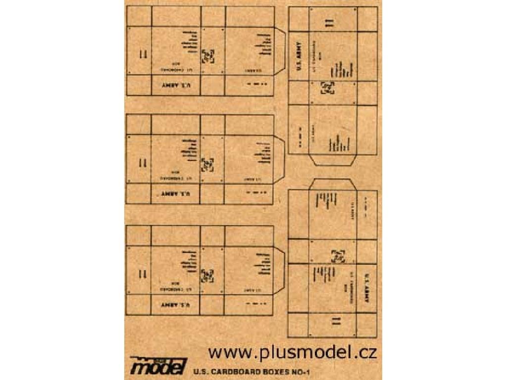 Plusmodel - 009 - U.S. Cardboard Boxes 1:35