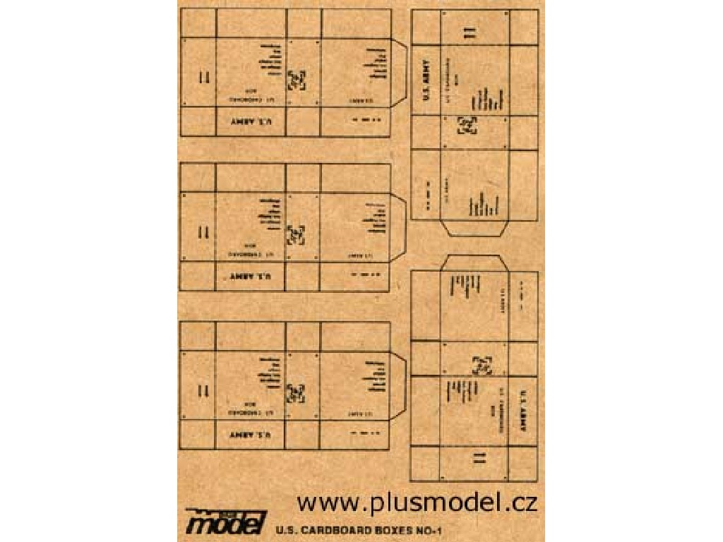 1/35 U.S. Cardboard Boxes