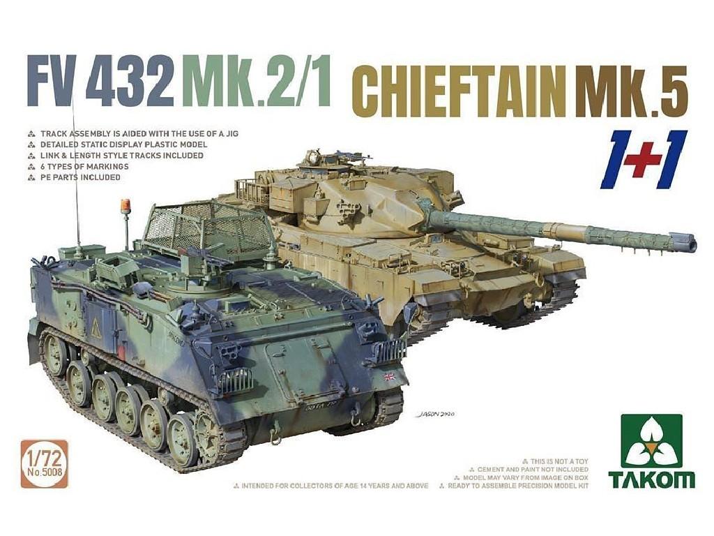 1/72 2 kits Combo FV432 Mk.2/1 ans Chieftain Mk. 5