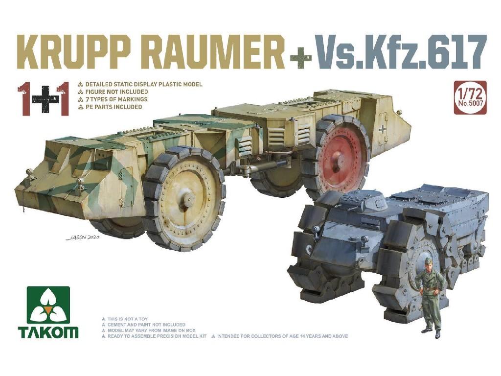 1/72 2 kits Combo KRUPP RÄUMER+ Vs.Kfz.617
