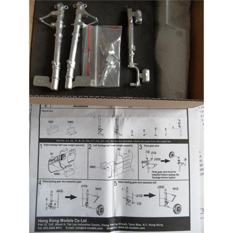 1/32 B-25H/J Mitchell Metallfahrwerk und Gewicht